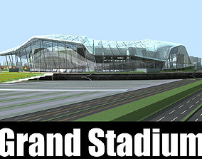 3D model Grand Stadium 014 Aren With Glass Roof