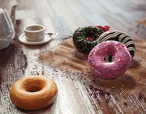3D breakfast The Donut Essentials