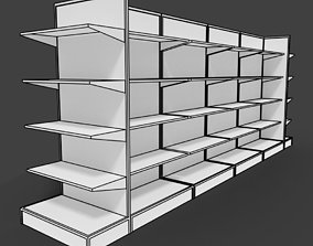 Supermarket shelves shelf or rack for 3D model