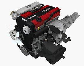 3D asset Nissan CA18DET engine