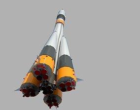 Baikonur rocket PBR 3D asset