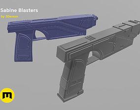3D print model Sabine Wren from Star Wars - 2 Blasters