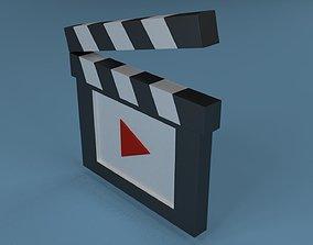 film Clapperboard 3D