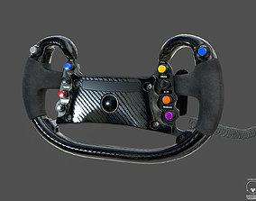 3D asset Race Steer Wheel Generic PBR GTLM