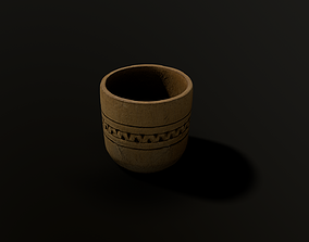 Wooden cup photogrammetry - Game ready 3D model
