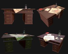 3D model Cartographer Desk Morse Code Device WWII