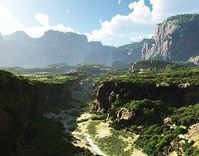 Cracked valley in Vue 3D