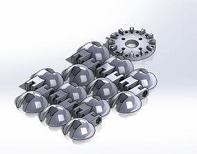 Pelton Water Wheel 3D print model