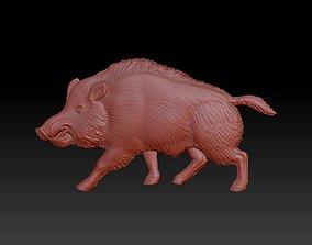 Pig statue panel internal or external decor 3D print model