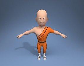 Shaolin Monk 3D asset