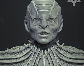 Klingon - Star Trek Bust Highpoly 3D model sci