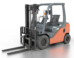 3D model low-poly Toyota Fork Lift 8FD25