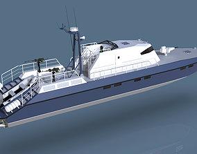 3D model Concept Coast Guard Boat
