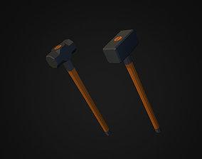 Low Poly Sledgehammer Pack 3D model
