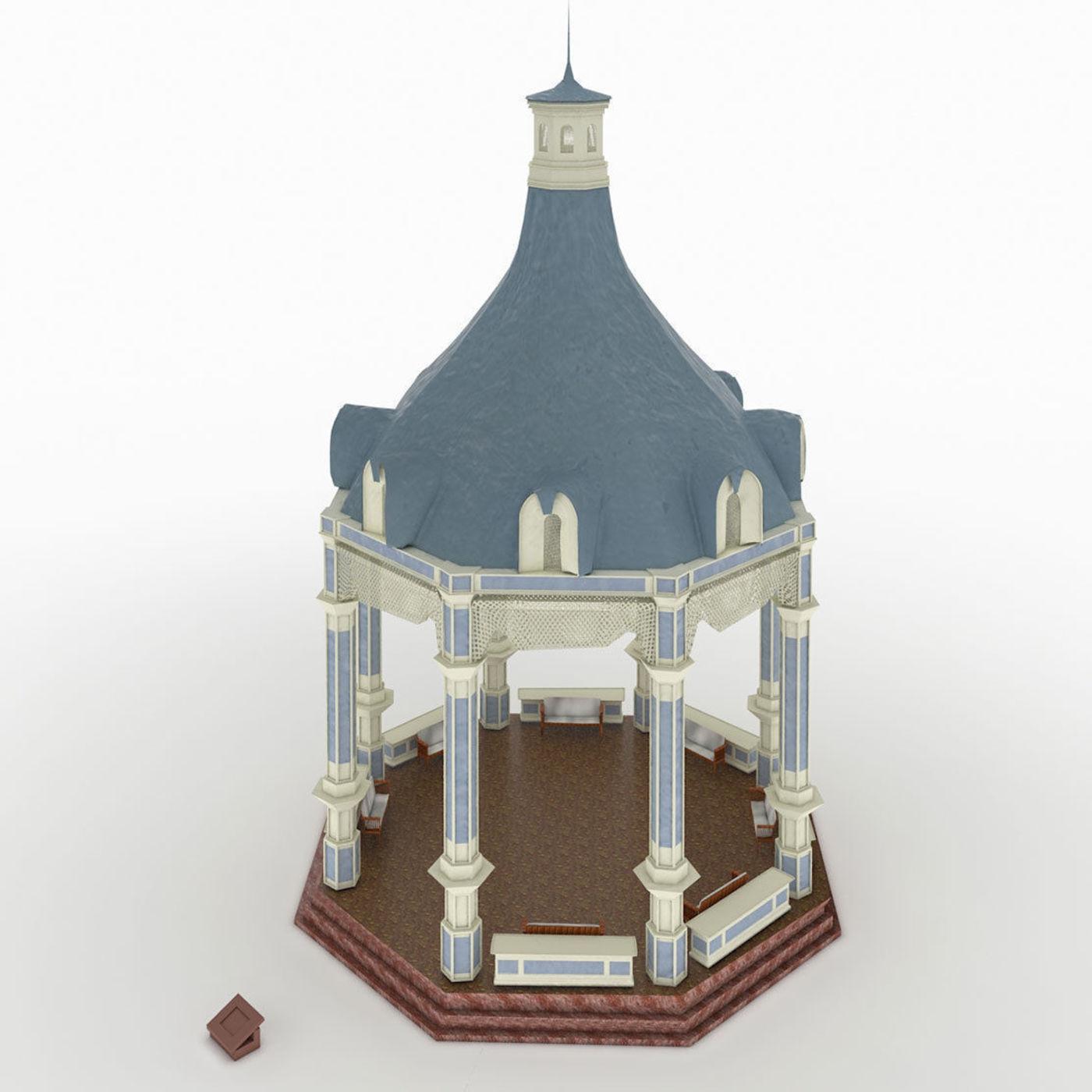 Victorian gazebo model
