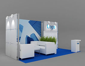 Exhibition stand 6x3 m 3D