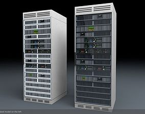 Server Rack Unit Low-Mid Poly 3D asset low-poly