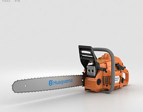 construction Husqvarna 450 Chainsaw 3D model