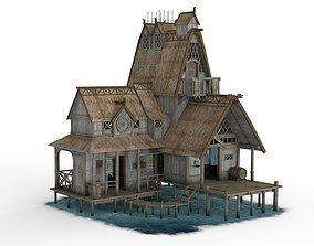 Viking House 03 3D asset
