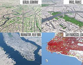 Berlin - Paris - NewYork - SanFrancisco 3D model