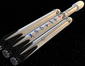 SpaceX Falcon Heavy 3D asset