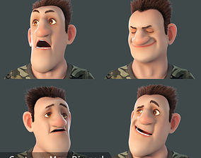 animaton 3D Cartoon Man Rigged