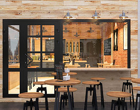 cafe with industrial style 3D model