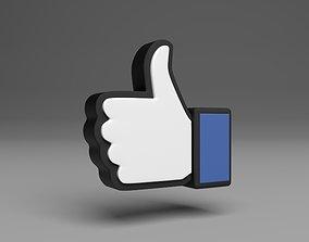 like Facebook free model 3D