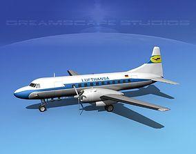 Convair CV-340 Lufthansa 3D