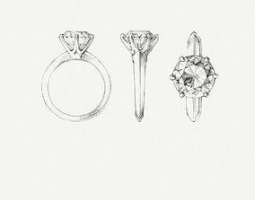 3d ring tiffny print model