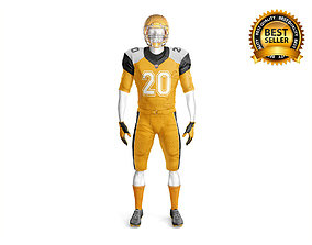 3D gloves Footbal Uniform with mannequin