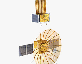 Queqiao Relay Communication Satellite 3D animated