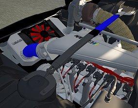 rotary 4 rotor engine 3D