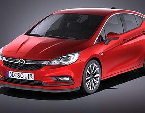 Opel Astra 5-door 2017 VRAY 3D model