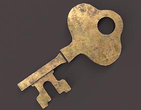 3D asset Medieval Copper Key V4
