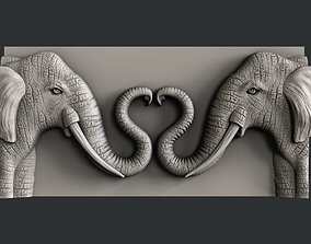 3d STL models for CNC router love elephant
