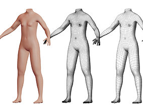 3D Character 05 High and Low-poly - Body female