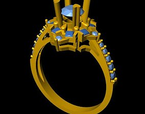 3D print model DiamondRing 18K 3