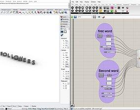 Special grasshopper algorithm for our 3D print model 1