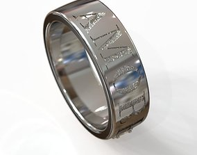 3D printable model wedding ring obr 6