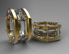 3D print model rings wedding gold
