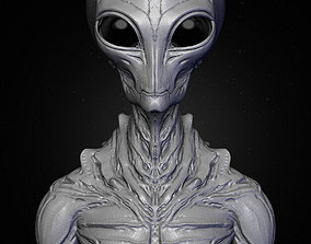 3D model Realistic Alien 9 Sculpt