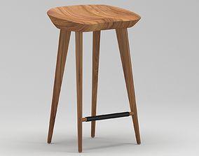 3D Light Wooden Stool 1