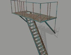 3D model game-ready Fire Escape