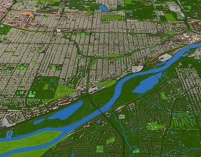 3D asset City Saint Paul Ramsey County Minnesota USA 2