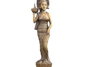 3D asset Oriental Woman Carving