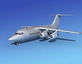 BAe 146-100 Bare Metal 3D model