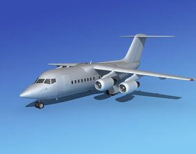 BAe 146-100 Bare Metal 3D model