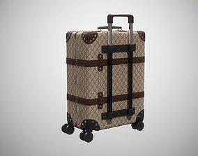 Gucci Globe-Trotter GG canvas luggage 3D model 1