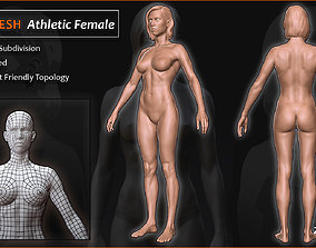 3D model Athletic Female